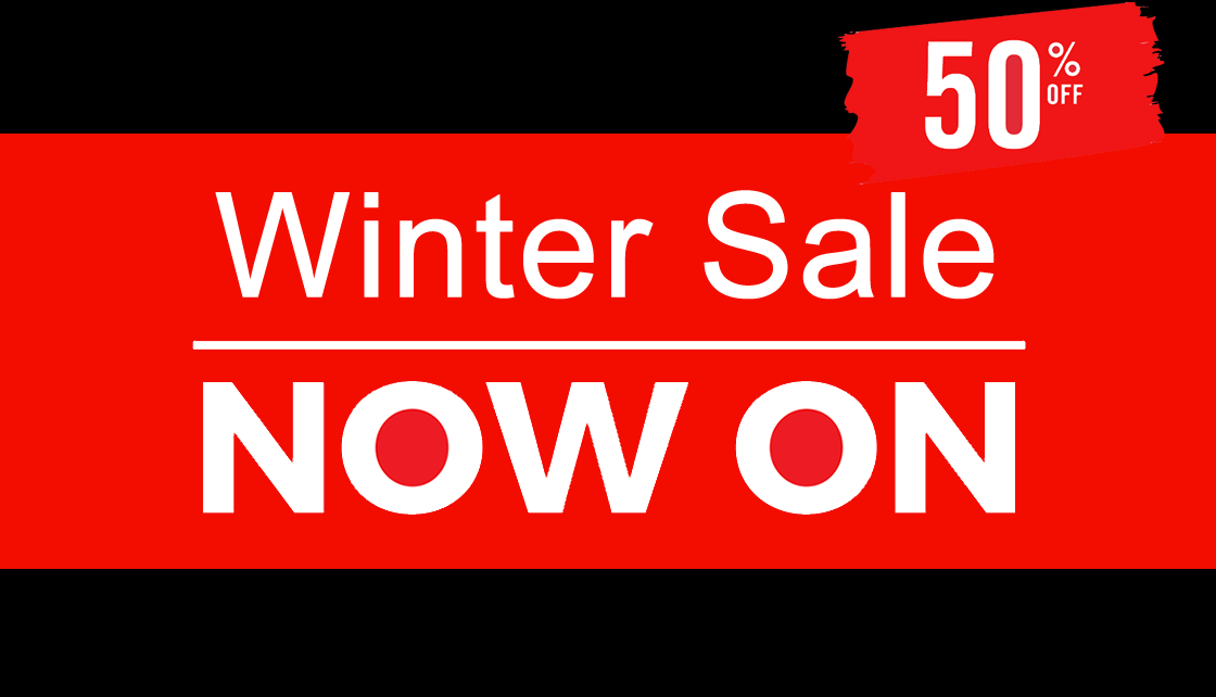 Winter Sale Now On - 50% off the MSRP