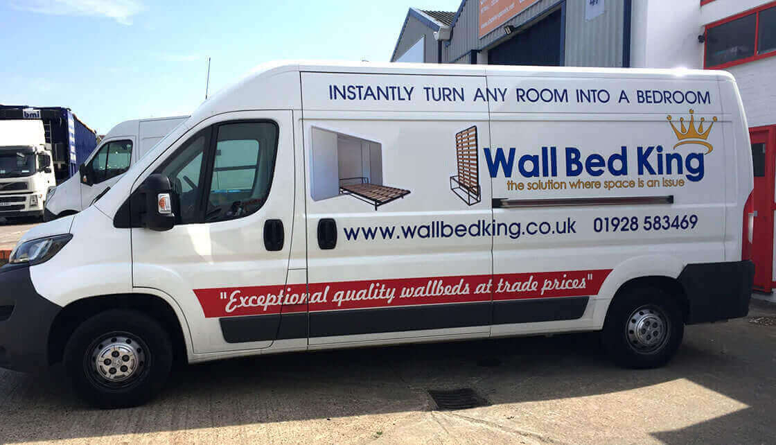 Our branded Wall Bed King delivery truck